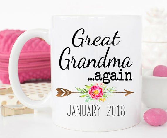 great grandma again mug new great grandma mug gift for new great