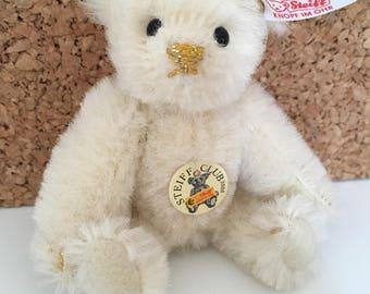 All Ids Vintage Steiff Club 2008 White Mini Teddy Bear