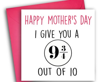 Funny Mother's Day card | Harry Potter Card