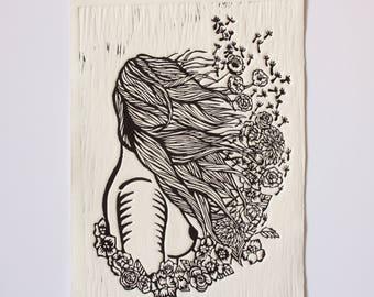 Seed IV - Semilla IV - Linocut Print - Linograbado - Relief Printing - 18x25 cm.