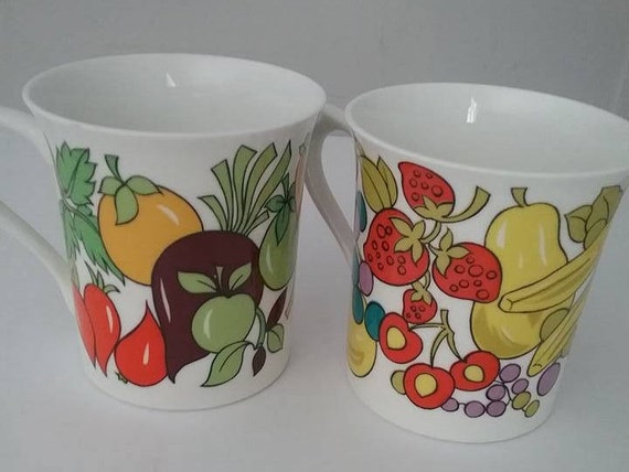 Rosina Fine Bone China Cups, Kitchen Fine Bone China Cups, Retro China Cups, Covent Garden Cups, Made in England Covent Garden Cups, #retro