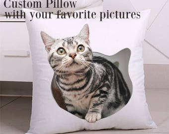 Personalized picture pillows, Custom pillow with your favorite pictures, Personalized throw Pillow, Personalized Pillow Gifts for Her