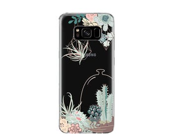 Succulent House | Greenery | Case for Samsung Galaxy S8 | Floral | Samsung S8 | Case for Samsung S8 Plus| Clear case for Samsung Galaxy|Soft