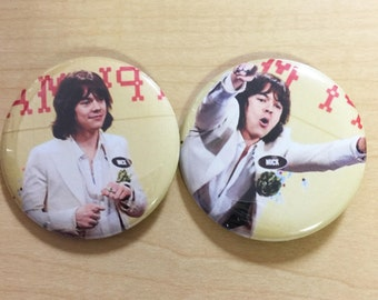 Harry Styles as Mick Jagger SNL-2017 -Pinback button set of 2