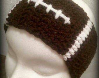 Crochet/ Football Headband Head-wrap Ear Warmer