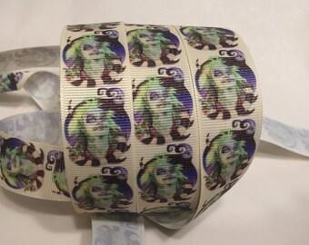 """1/3/5/10 Yards - 1"""" Beetlejuice Print Grosgrain Ribbon"""