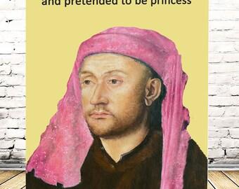 Bawdy Banter - tights on his head - naughty birthday card greetings