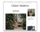 Claire Modern - Modern Wordpress Blog Theme - Responsive Design - Minimalist Fashion Photography Blog - Shop - Gallery - Customisable -