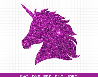 Unicorn head svg, Unicorn horn svg, Unicorn svg, Unicorn birthday svg, files for Cricut, Silhouette, Unicorn cut file