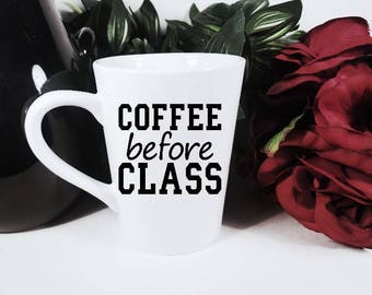 Caffeine Before | Before Class | College Student Gift | Funny College | Funny Coffee Mug | New College Student | Freshman Gift | Coffee Mug
