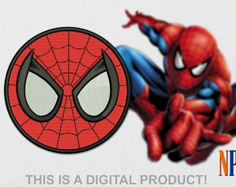 Spiderman Patch machine embroidery design. Marvel Superhero embroidery. Embroidery file