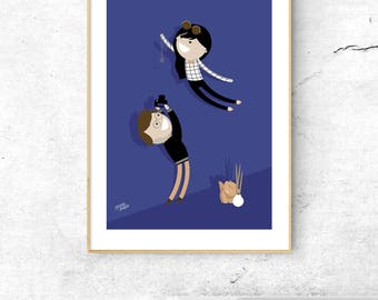 2 People Portrait + Pet / Couple portrait / Family Portrait / Custom poster / Family Illustration / Family art / Family Draw / Wedding Gift