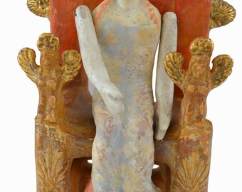 Woman on Throne museum reproduction quality artifact