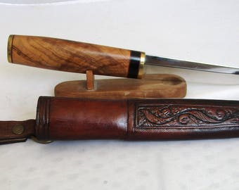 Hunting knife with a sheath, Knife with a sheath