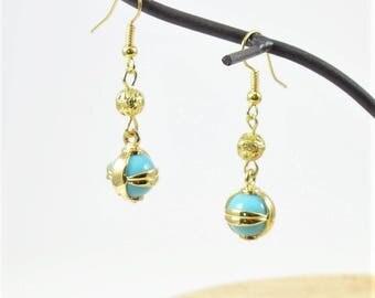 Blue Earrings Gold Earrings Bridesmaid Earrings Wedding Earrings Wedding Jewelry Bridesmaid Gift Long Earrings Dainty Cheap Earrings