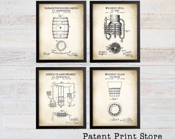 Whiskey Patent Prints. Whiskey Art Print. Man Cave Art. Whiskey Gift. Gift for Him. Whiskey Prints. Man Cave Decor. Man Cave Wall Art. 258