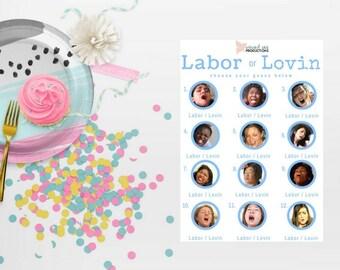 Labor or Lovin (Blue) Baby Shower Game