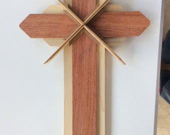 Wooden Cross using Natural, Reclaimed woods