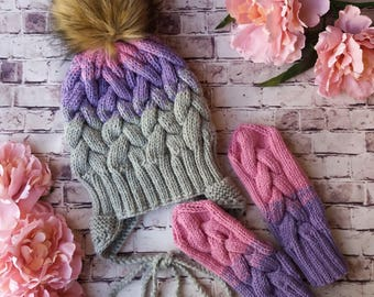 Very cute girl hat and gloves