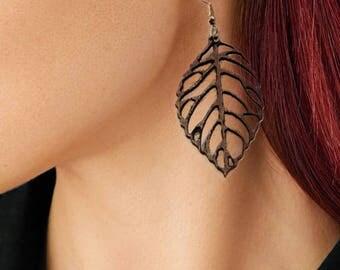 Chandelier wooden earrings / Chandelier earrings / Wooden earrings / Leaf or Flower earrings / Unique earrings / Wood jewelry /  accessories