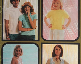 1970's Patons Family knitting and crochet pattern booklet - book 495