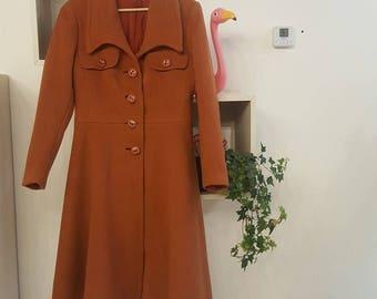 Vintage coat years 1970 cinnamon color