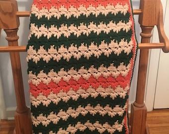 Puff Spike Stitch Afghan Blanket