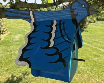 Blue Birdhouse - Medium size
