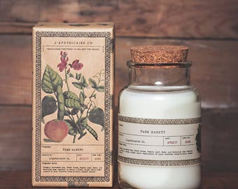 Farm Market Candle || Hand Poured || Scented Soy Wax Candle || Apothecary Candle || Farmhouse Candle