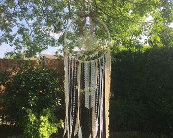 Huge Wedding Dreamcatcher for photography backdrops props Wedding Wishes Good Luck Messages Boho Hippy Mr & Mrs