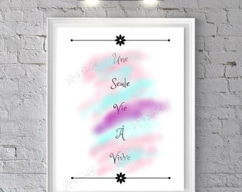 digital print, inspirational quote drawing poster design, inspiration, downloadable, pastel color