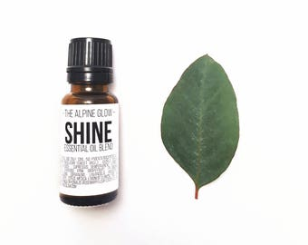 SHINE Essential Oil Blend - Aromatherapy - Diffuser - Bay - Basil - Cedarwood - Cypress - Grapefruit - Geranium - Lavender - Rosemary