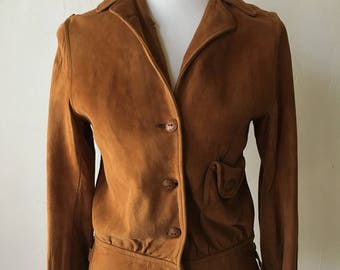 1930s Leather Suede Jacket
