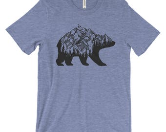 National Park Bear Adventure Unisex Bella Canvas T-Shirt