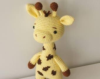 ERNEST the Giraffe Toy - Crochet Giraffe,Stuffed Giraffe, Soft Giraffe Toy, Plush Giraffe,Baby Toy,Baby Soft Toys,Soft Toys For Kids