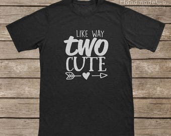 Like Way Two Cute T-shirt Transfer/Iron On Vinyl/Iron On Decal/Iron On Sheet/DIY Iron On Transfer/T-shirt Iron On Transfer