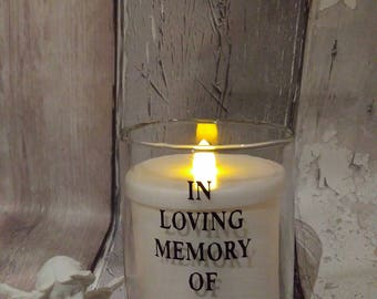 mothers day memorial gift, personalised mothers day rememberance gift,grave ornament,mothers day memorial led candle ,LED memorial  Candle