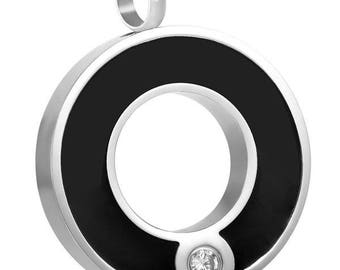 Circle Cremation Pendant-Cremation Jewelry, Urn Necklace, Memorial Jewelry, Necklace for Ashes, Keepsake Jewelry