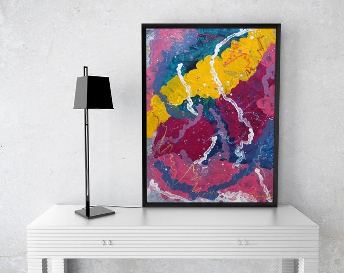 Intimate connection 40x30cm Original Abstract Painting