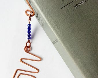 Bookmark JW gifts Copper Crystal beads !