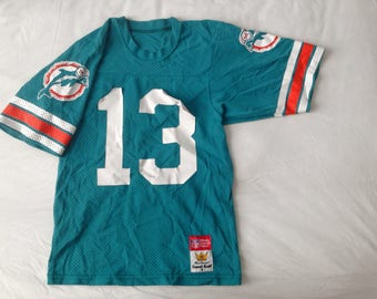 Mens Vintage: RARE Authentic Miami Dolphins NFL Turquoise American Football Jersey