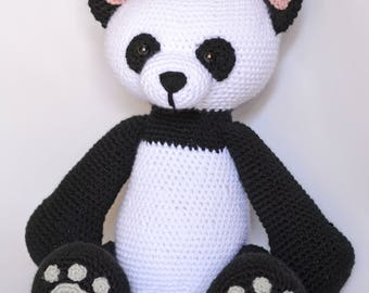 Crochet Panda, Amigurumi Panda, Panda Stuffed Animal, Giant Panda, Panda Bear, Panda, Moe the Panda