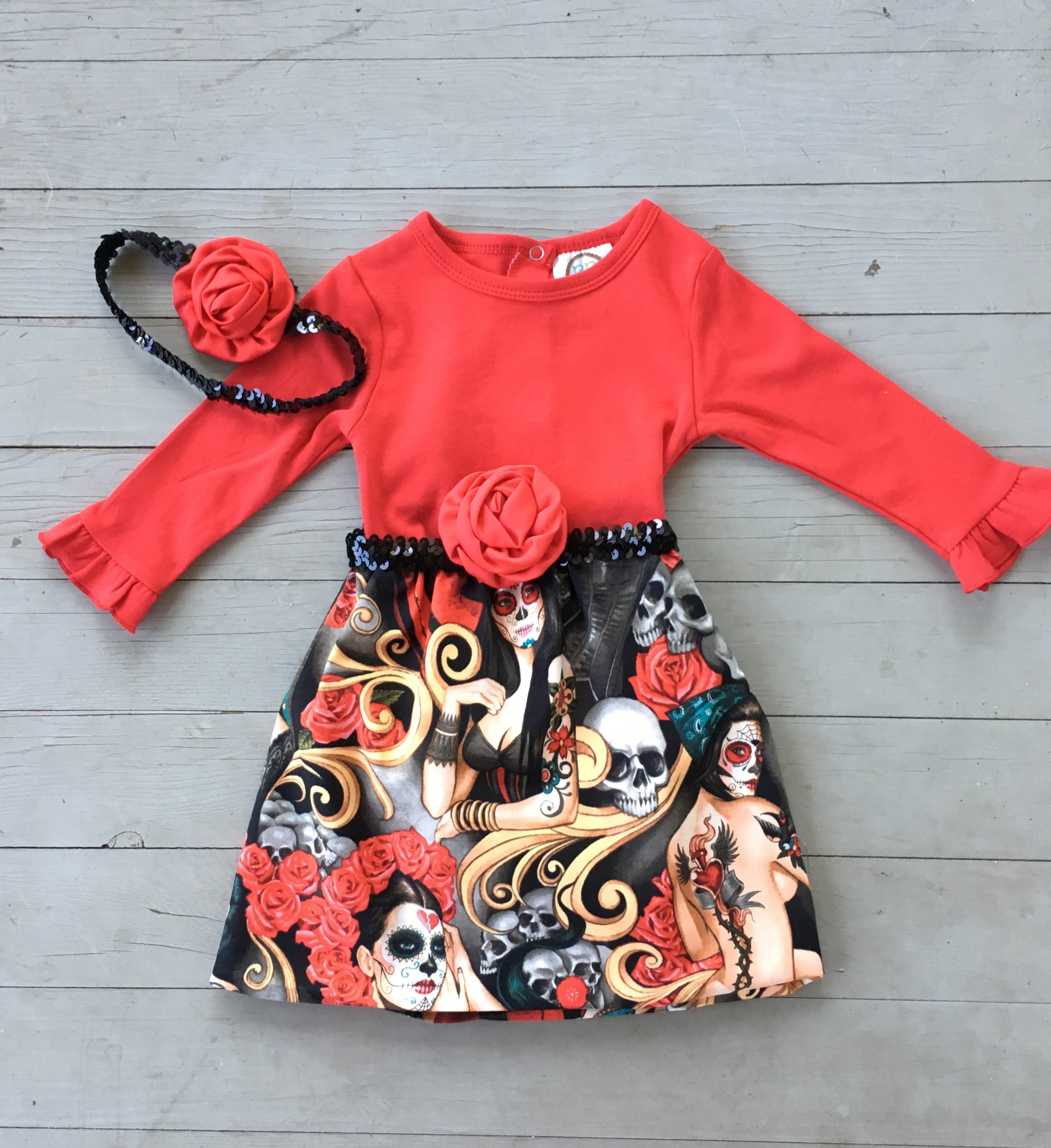 Dress all sizes skull goth gothic day of the dead skeleton mother