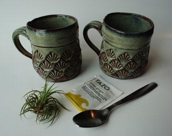Handmade Ceramic Mug Set | Pottery Coffee Mug | Set of 2 Mugs