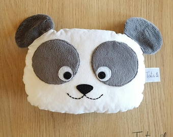 "Coussin panda ""panda lover!"""