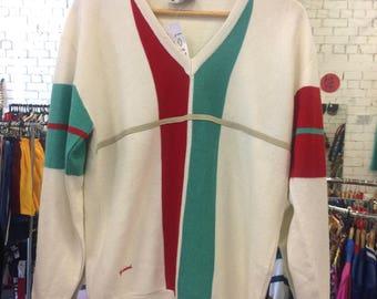 Italian Vintage Gabicci V Neck Wool Pullover