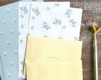Set carta da lettere Lace flower