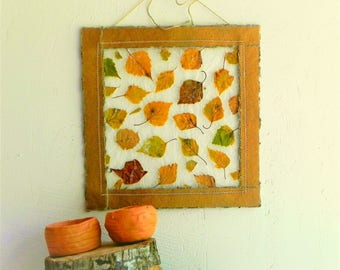 autumn leaves decor - autumn wall art - fall decoration - fall home decor - thanksgiving decor - fall gift