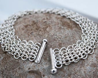 Silver bracelet, Chainmail, Handmade silver bracelet, Perfect gift for her, Graduation, Anniversary gift, Special occasion, Bryony Bespoke