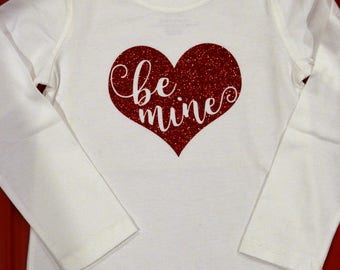 Be Mine Bodysuit; Valentine Baby Bodysuit; Baby Shower Gift; Coming Home Outfit